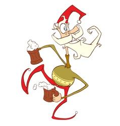 jolly santa vector image