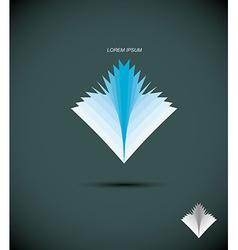 Logo book Abstract icon book sheets The concept vector image