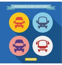 logo icon buses into a flat vector image