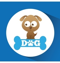 lovely puppy dog icon vector image