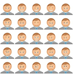 Office smilies icons set vector image