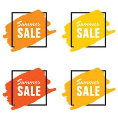 summer sale icon set vector image vector image