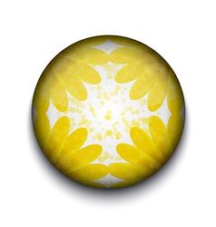 Yellow Flower App Icon vector image