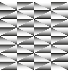 Geometric monochrome seamless pattern of triangles vector image