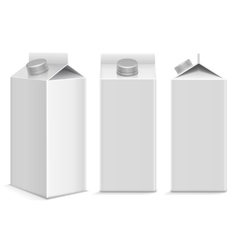Milk and juice white carton package box in vector image vector image