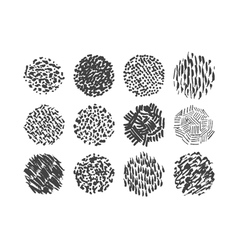 Pen scribble brush pack various textures vector image