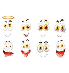 Different kind of facial expressions vector image vector image
