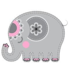 Fabric animal cutout Elephant vector image