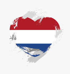 flag of the netherlands vector image vector image