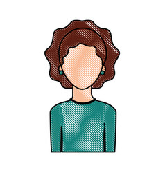 portrait woman female faceless lifestyle vector image