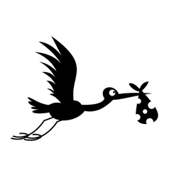 Stork baby simple icon vector image vector image