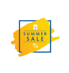 summer sale symbol message in frame vector image