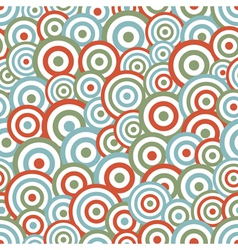Abstract circle seamless vector image vector image