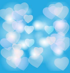 hearts bokeh vector image vector image