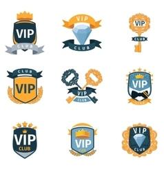 VIP club logo and emblems set vector image