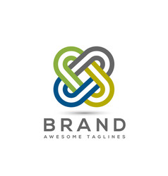 abstract connect color business company logo vector image