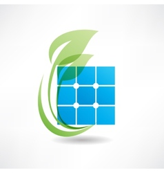 abstract leaves icon icon vector image