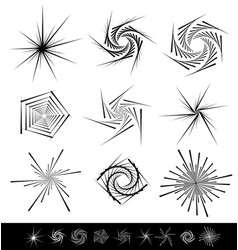 Abstract shape set different geometric forms vector