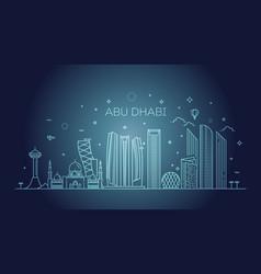 abu dhabi city line art vector image
