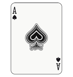 Ace of Spade vector image