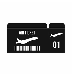 Airline boarding pass icon simple style vector image vector image