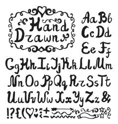 AlphabetInk Hand drawn lettersBlack vector image