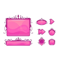 Beautiful pink game user interface vector