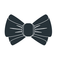 black bow icon vector image