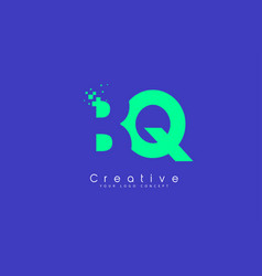 bq letter logo design with negative space concept vector image