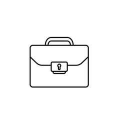 briefcase case the line icon black on white vector image