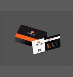 Business card design sample vector