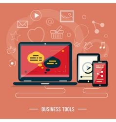 Business tools concept vector