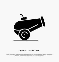 Canon weapon solid black glyph icon vector
