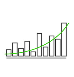 charts and graphs diagram icon template vector image