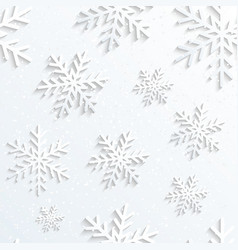 Christmas Snowflake White Background vector image