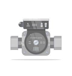 Circulation pump bright linear style vector