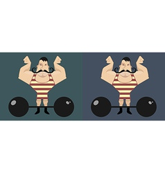Circus athlete with mustaches vector