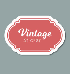 color vintage label frame for design vector image