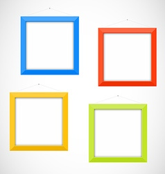 Colorful frames vector image