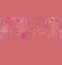 coral color shades geometric minimal flowers vector image