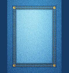Denim frame vertical 2 vector