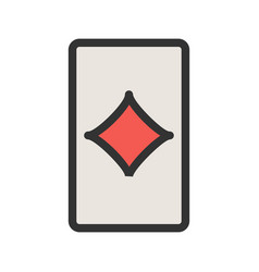 Diamonds card vector