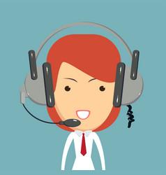 Dispatcher consultant icon vector