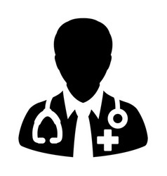 Doctor icon medical consultation male physician vector