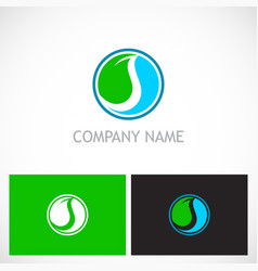 Ecology abstract round company logo vector