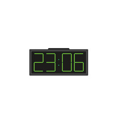 electronic alarm clock with big numbers vector image