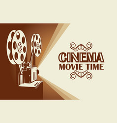 film projector poster vector image