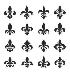 Fleur de lis symbol set on vector