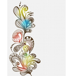 floral vertical ornament vector image