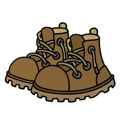 Funny leather boots vector image